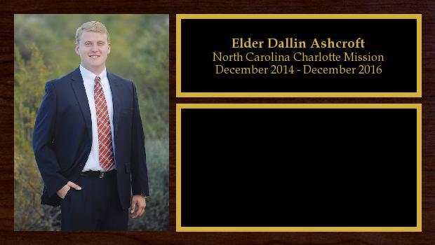 December 2014 to December 2016<br/>Elder Dallin Ashcroft