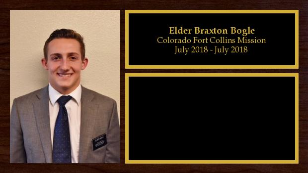 July 2018 to July 2020<br/>Elder Braxton Bogle