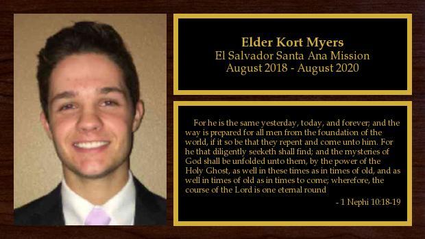 August 2018 to August 2020<br/>Elder Kort Myers