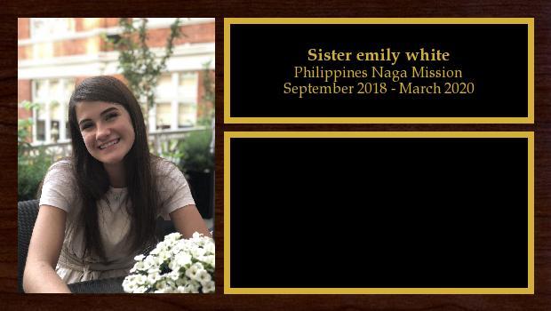 September 2018 to March 2020<br/>Sister emily white
