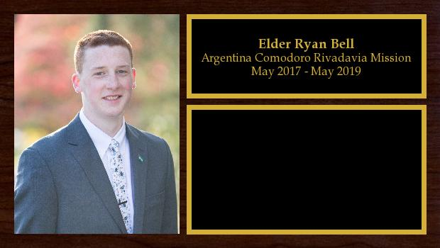 May 2017 to May 2019<br/>Elder Ryan Bell