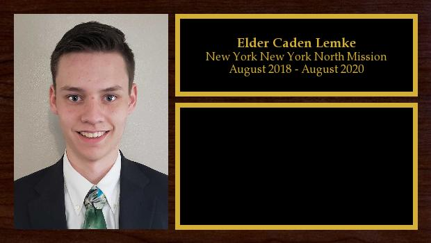 August 2018 to August 2020<br/>Elder Caden Lemke
