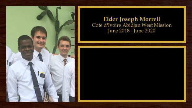 June 2018 to June 2020<br/>Elder Joseph Morrell