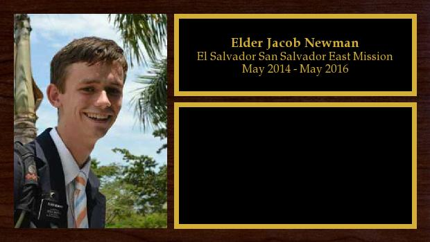 May 2014 to May 2016<br/>Elder Jacob Newman