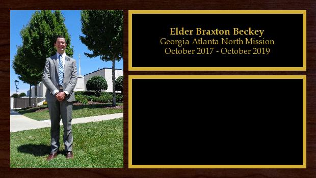 October 2017 to October 2019<br/>Elder Braxton Beckey
