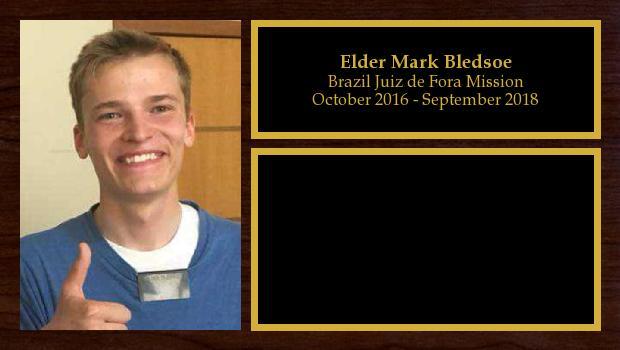 October 2016 to September 2018<br/>Elder Mark Bledsoe