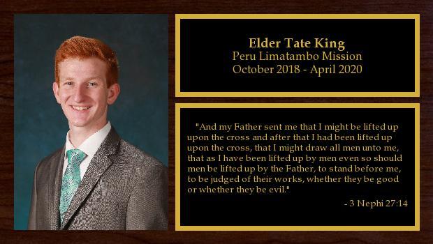 October 2018 to October 2020<br/>Elder Tate King