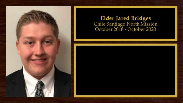 October 2018 to October 2020<br/>Elder Jared Bridges