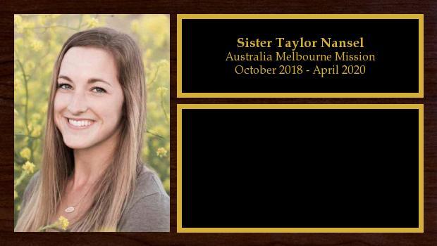 October 2018 to April 2020<br/>Sister Taylor Nansel