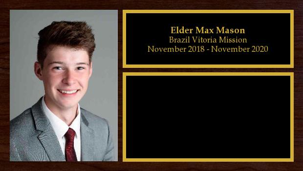 November 2018 to May 2020<br/>Elder Max Mason