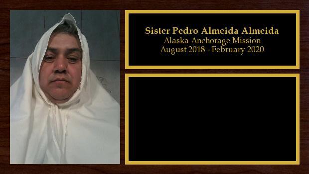 August 2018 to February 2020<br/>Sister Pedro Almeida Almeida