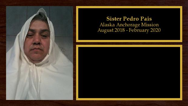 September 2018 to February 2019<br/>Sister Pedro Pais