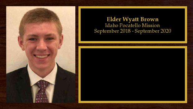 September 2018 to September 2020<br/>Elder Wyatt Brown