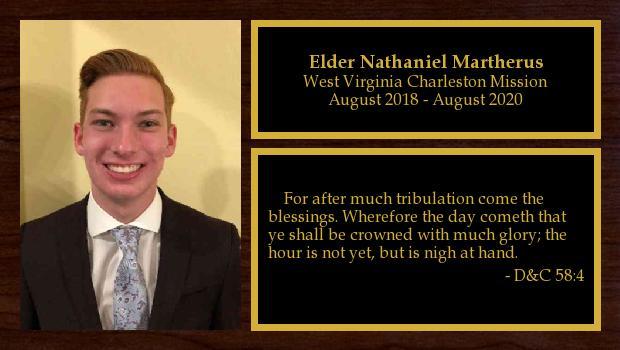 August 2018 to August 2020<br/>Elder Nathaniel Martherus