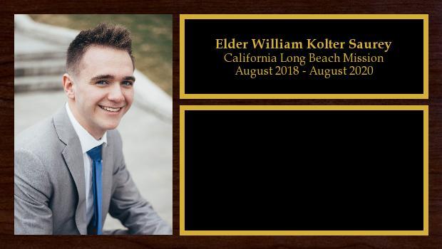 August 2018 to July 2020<br/>Elder William Kolter Saurey