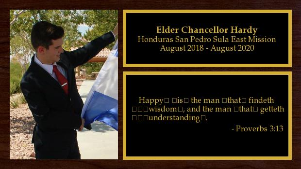 August 2018 to August 2020<br/>Elder Chancellor Hardy