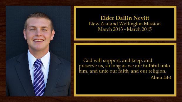 March 2013 to March 2015<br/>Elder Dallin Nevitt