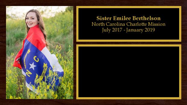July 2017 to January 2019<br/>Sister Emilee Berthelson
