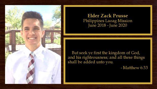 June 2018 to June 2020<br/>Elder Zack Prusse
