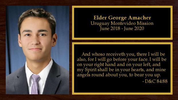 June 2018 to June 2020<br/>Elder George Amacher
