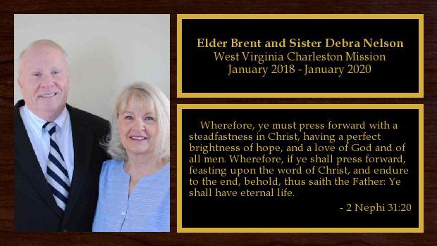 January 2018 to January 2020<br/>Elder Brent and Sister Debra Nelson