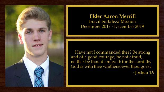 December 2017 to December 2019<br/>Elder Aaron Merrill