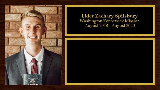 August 2018 to August 2020<br/>Elder Zachary Spilsbury