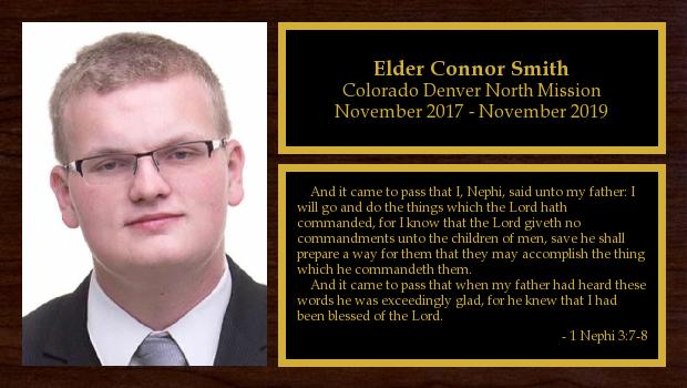 November 2017 to November 2019<br/>Elder Connor Smith