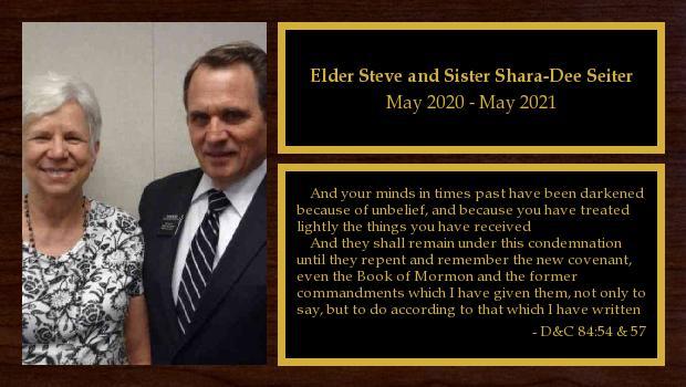 <br/>Elder Steve and Sister Shara-Dee Seiter