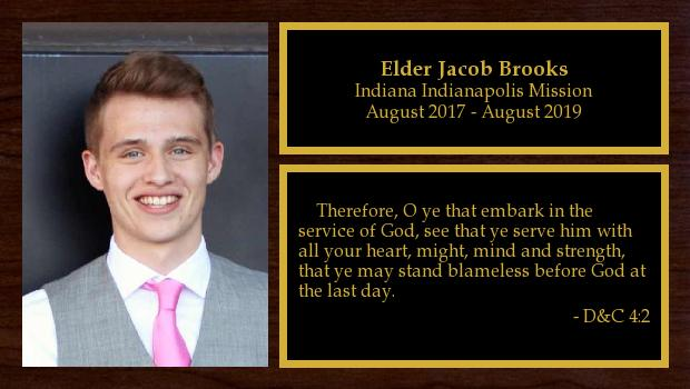 August 2017 to August 2019<br/>Elder Jacob Brooks