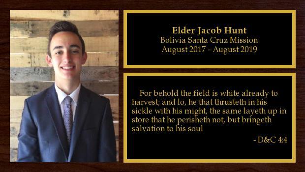 August 2017 to August 2019<br/>Elder Jacob Hunt