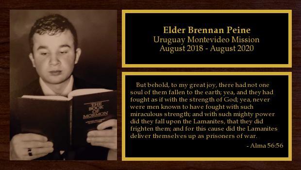 August 2018 to August 2020<br/>Elder Brennan Peine