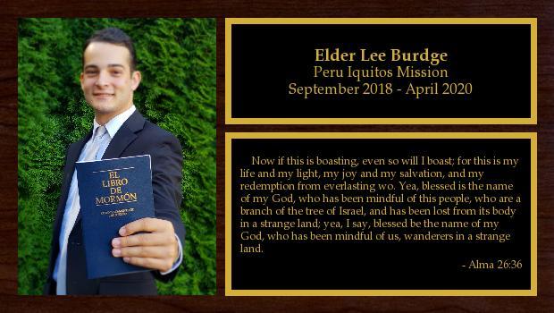 September 2018 to September 2020<br/>Elder Mason Burdge