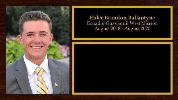 August 2018 to August 2020<br/>Elder Brandon Ballantyne