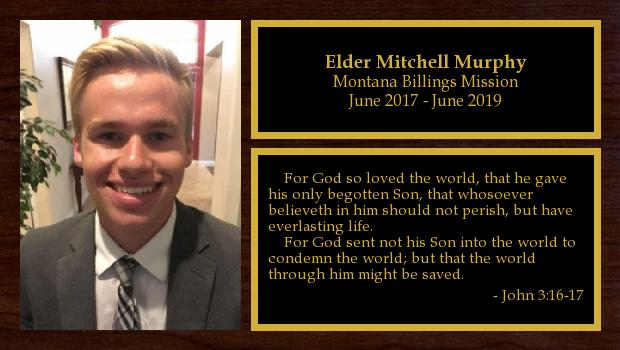 June 2017 to June 2019<br/>Elder Mitchell Murphy