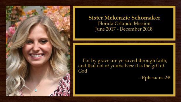 June 2017 to December 2018<br/>Sister Mekenzie Schomaker