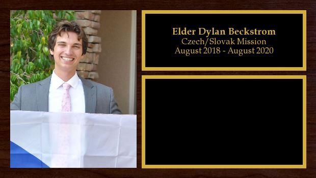 August 2018 to August 2020<br/>Elder Dylan Beckstrom