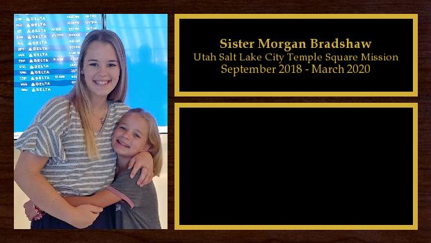 September 2018 to March 2020<br/>Sister Morgan Bradshaw