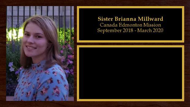September 2018 to April 2020<br/>Sister Brianna Millward