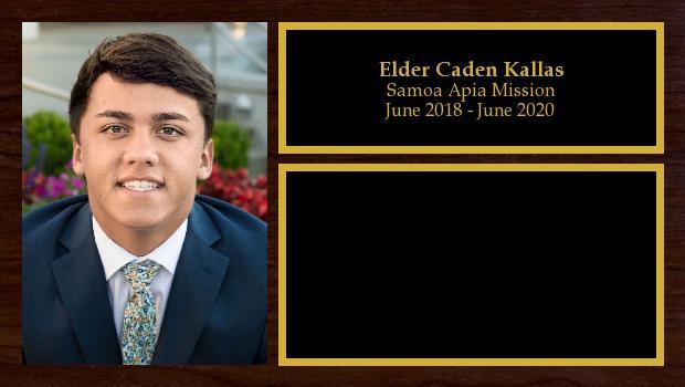 June 2018 to May 2020<br/>Elder Caden Kallas