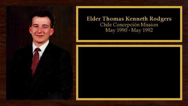 May 1990 to May 1992<br/>Elder Thomas Kenneth Rodgers