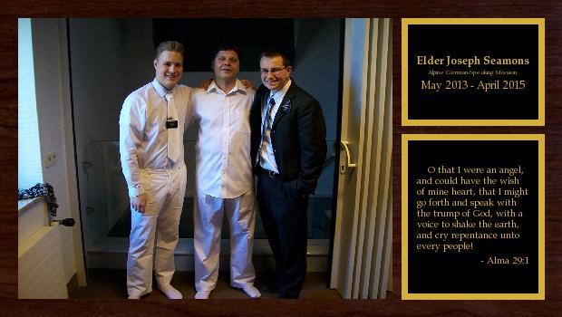 May 2013 to April 2015<br/>Elder Joseph Seamons