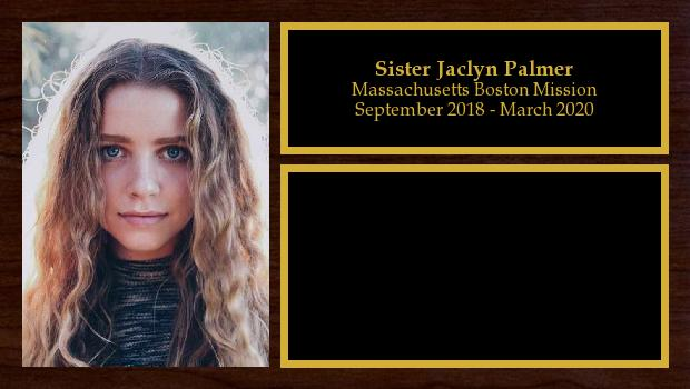 September 2018 to March 2020<br/>Sister Jaclyn Palmer