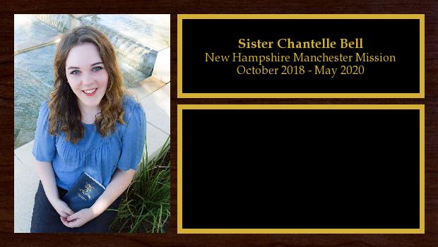 October 2018 to May 2020<br/>Sister Chantelle Bell
