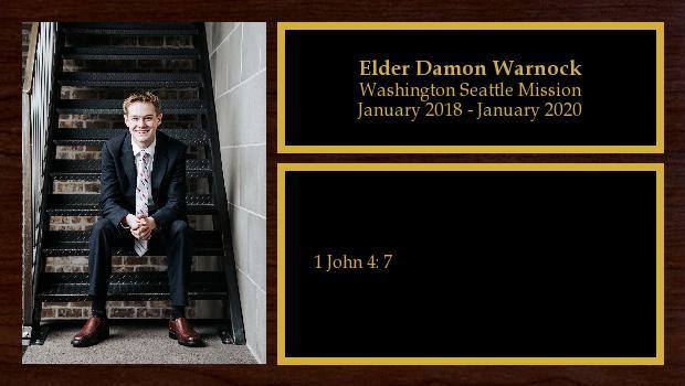 January 2018 to January 2020<br/>Elder Damon Warnock