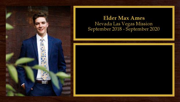 September 2018 to September 2020<br/>Elder Max Ames