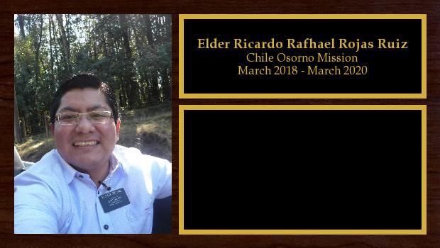 March 2018 to March 2020<br/>Elder Ricardo Rafhael Rojas Ruiz