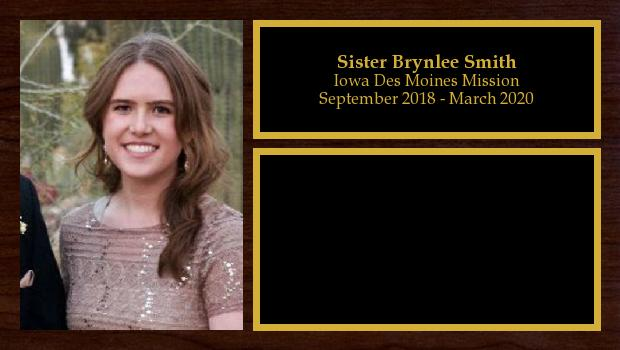 September 2018 to March 2020<br/>Sister Brynlee Smith