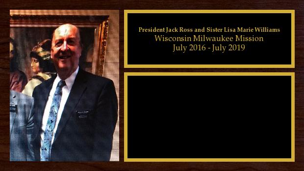 July 2016 to July 2019<br/>President Jack Ross and Sister Lisa Marie Williams