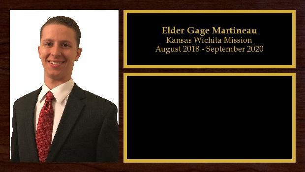 August 2018 to September 2020<br/>Elder Gage Martineau